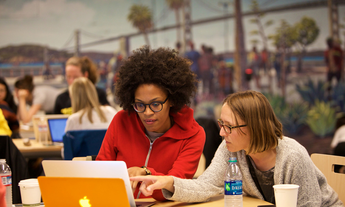Google works with Mother Coders to provide technical training for mothers in New York City